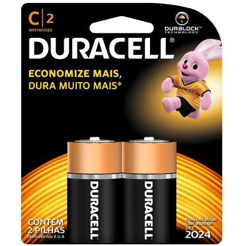Duracell Duralock Pilha Alcalina - C C/2