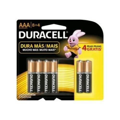 Duracell Pilha Alcalina AAA Leve 12 Pague 8