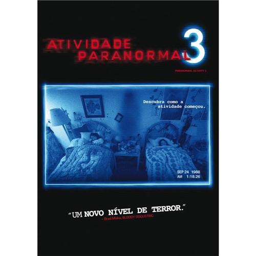 DVD Atividade Paranormal 3