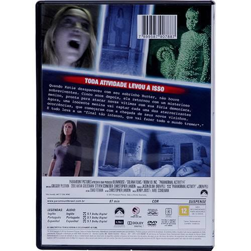 DVD - Atividade Paranormal 4