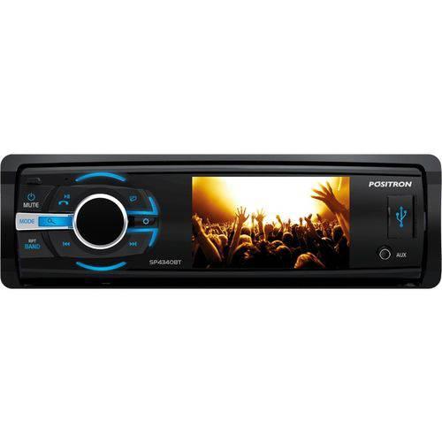 Dvd Automotivo Positron Sp4340bt 1 Din Bluetooth 3pol Usb
