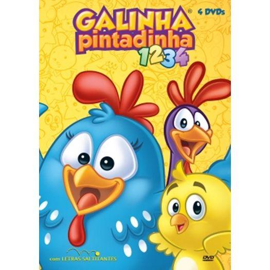 DVD Galinha Pintadinha 1 2 3 4 (4 DVDs)