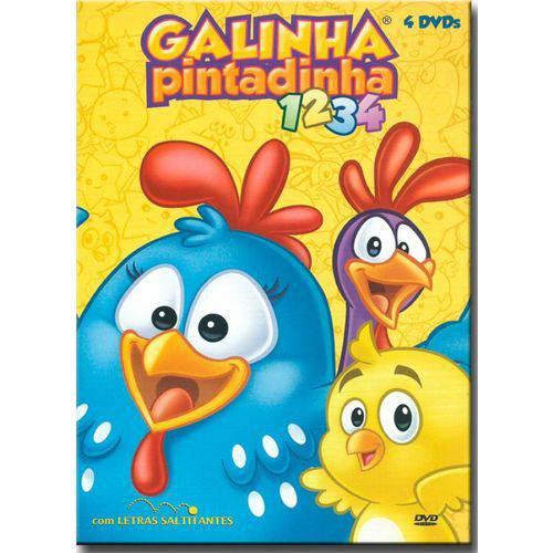 Dvd Galinha Pintadinha - Kit - 1 ao 4