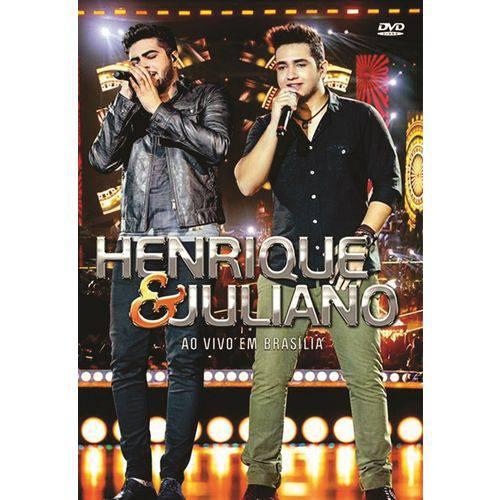 DVD Henrique e Juliano ao Vivo em Brasilia Original