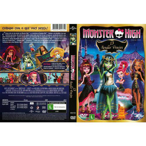 DVD - Monster High - 13 Monster Desejos - Universal