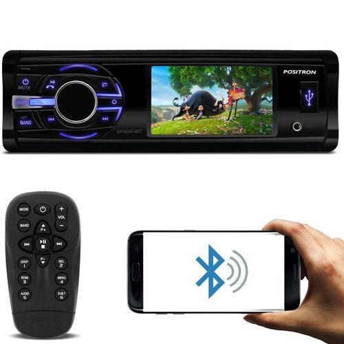 DVD Player Automotivo Pósitron Sp4340bt 1 Din Tela 3 Polegadas DVD Bluetooth USB P2 Fm Mp3