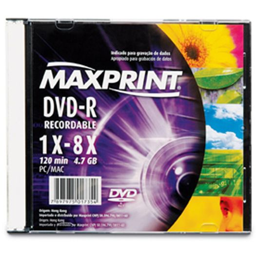DVD-R 4.7 Gb 16x Slim - Maxprint