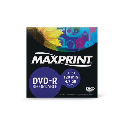 Dvd-r Gravável 4.7 Gb/120 Minutos Envelope Maxprint Maxprint