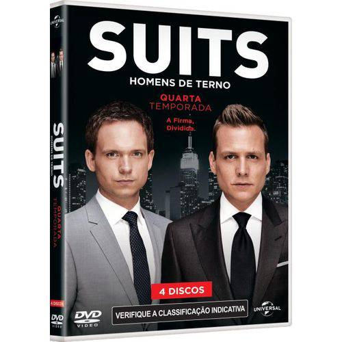 DVD Suits - Homens de Terno - 4ªtemporada - 4 Discos