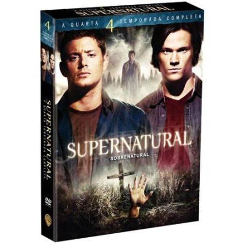DVD Supernatural - Sobrenatural - 4ª Temporada - 6 Discos