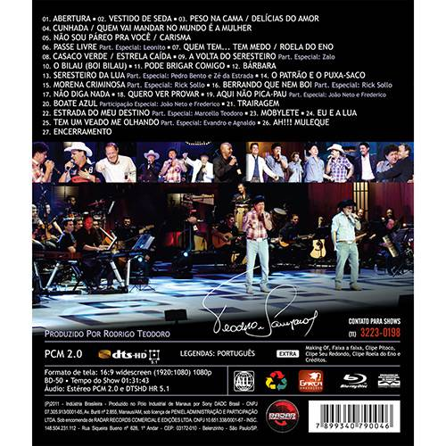 DVD Teodoro & Sampaio - 30 Anos de Carreira