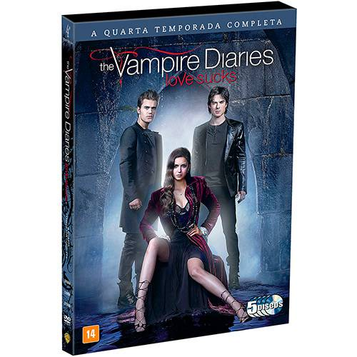 DVD - The Vampire Diaries: Love Sucks - 4ª Temporada (5 Discos)