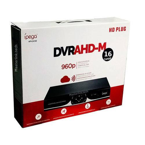DVR AHD 16 CANAIS KP-CA104 Compatível com Câmeras AHD, IP, TVI, CVI e Analógicas Ípega