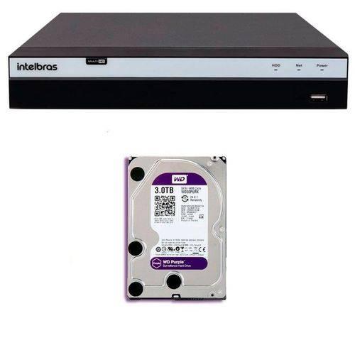 Dvr Gravador Intelbras Mhdx 3108 8 Canais 1080p HD de 3TB