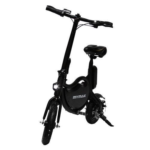 E-Bike Bicicleta Elétrica 350W 36V Enjoy Preto Autonomia Até 15km Mymax