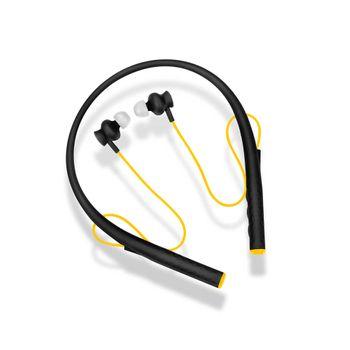 Earphone Pulse Rubber Arco Preto e Amarelo - PH240 PH240