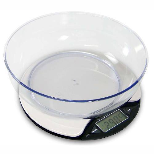 Easy-5 Balança Digital Pesadora com Tigela e Termômetro para Uso em Cozinha Actlife Balmak