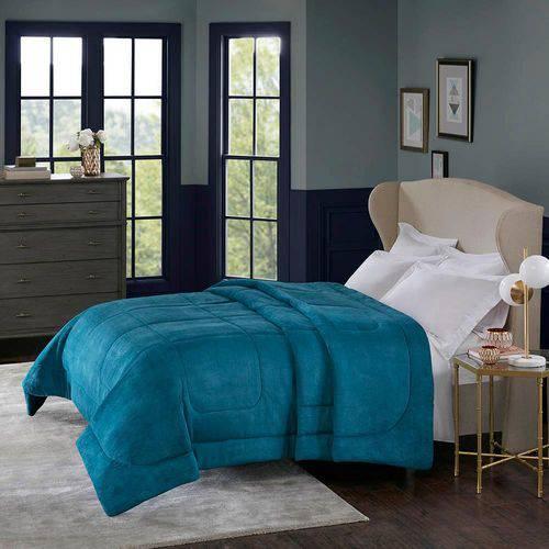 Edredom Alaska Home Design King Azul Adriatico
