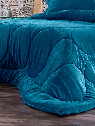 Edredom Casal Altenburg Blend Elegance Azul