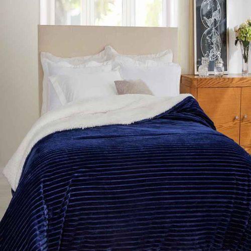 Edredom Casal Boreal Marinho 100% Poliéster Home Design Corttex