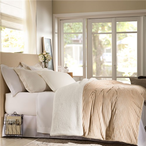 Edredom Casal Corttex Boreal - 100% Poliéster Home Design - Bege