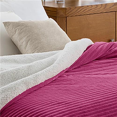Edredom Casal Corttex Boreal - 100% Poliéster Home Design - Vermelho