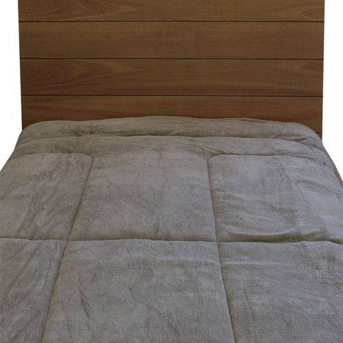 Edredom Dupla Face Duo Blanket Solteiro - Marrom Claro - Kacyumara