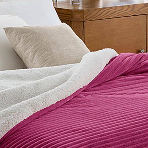 Edredom King Corttex Boreal - 100% Poliéster Home Design - Vermelho