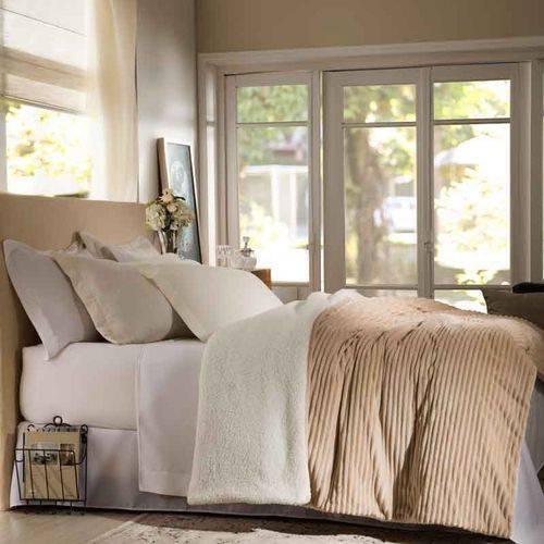 Edredom Queen Boreal Bege 100% Poliéster Home Design Corttex