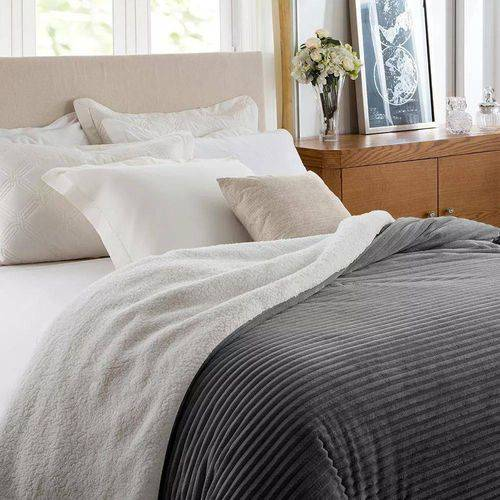 Edredom Queen Boreal Home Design Corttex 2,20x2,40m Chumbo
