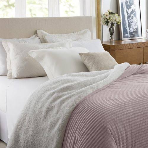 Edredom Queen Corttex Boreal Home Design Rosa Antigo