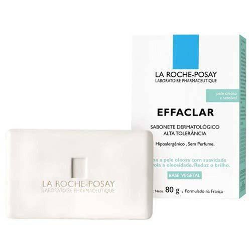 Effaclar Alta Tolerância Sabonete Limpeza Facial e Corporal Pele Oleosa Sensível La Roche-Posay 80g