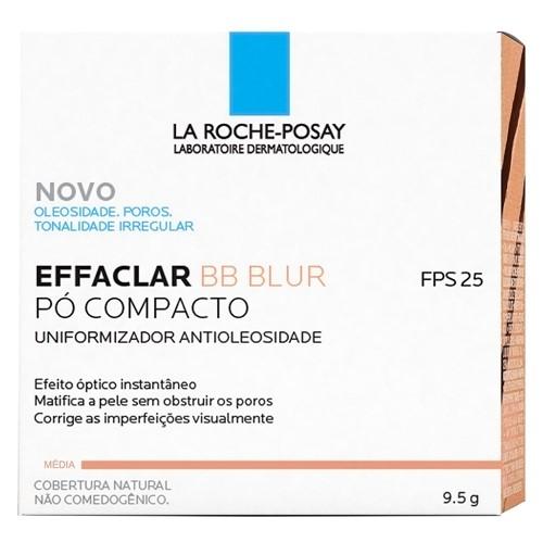 Effaclar BB Blur La Roche Posay Uniformizador Antioleosidade Pó Compacto Cobertura Natural Média com 9,5g