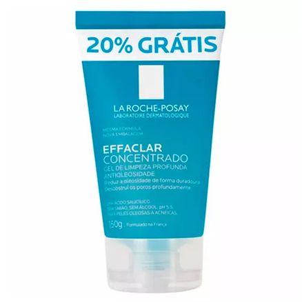 Effaclar Concentrado La Roche Posay Gel de Limpeza Profunda Antioleosidade 150g com 20% Grátis