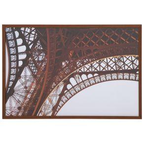 Eiffel Quadro 42 Cm X 62 Cm Nozes/castanho