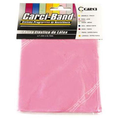 Elástico para Exercícios Carci Band Rosa 1,5m Leve