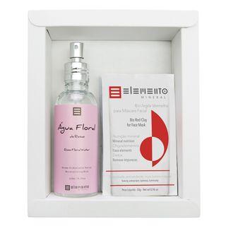 Elemento Mineral Rosas Kit - Argilas + Spray Hidratante Facial Kit