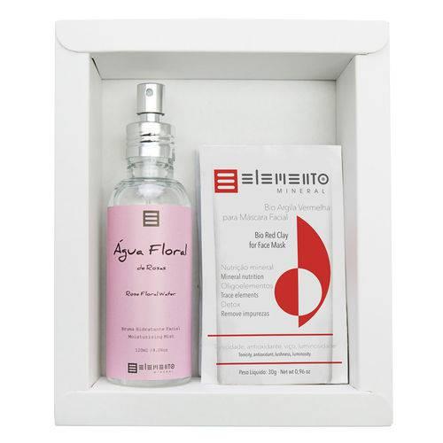 Elemento Mineral Rosas Kit - Argilas + Spray Hidratante Facial