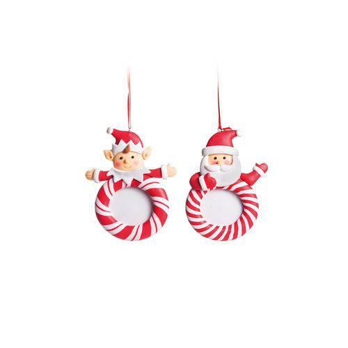 Elfo Decoração Natal P/pendurar Árvore 10cm Vermelho