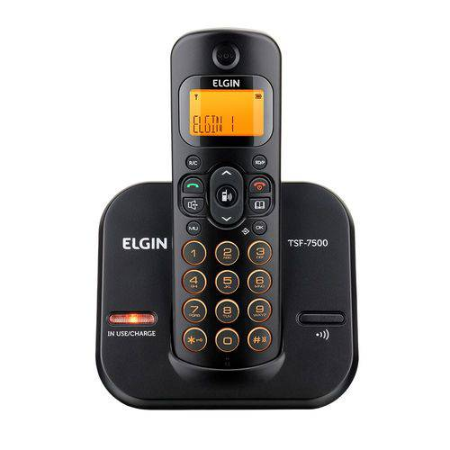 Elgin Telefone S/fio Id Chamada/viva-voz/preto Tsf7500