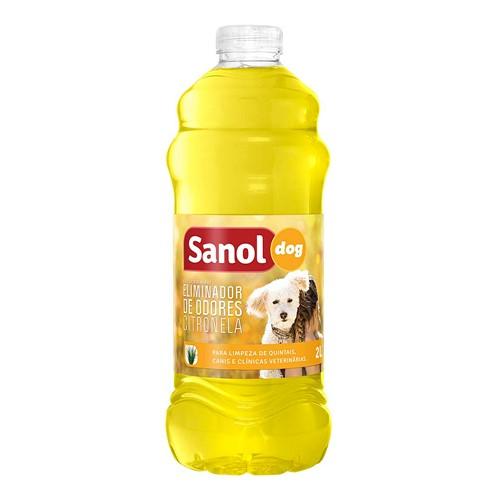 Eliminador de Odores Sanol Dog Citronela 2 Litros