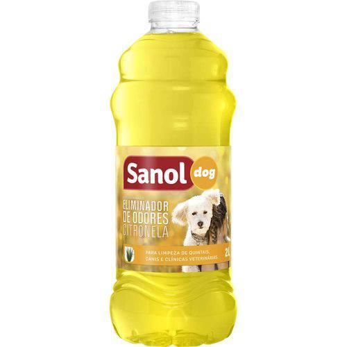 Eliminador Odores Desinfetante Citronela Sanol 2 Litros