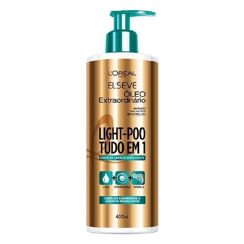 Elseve Light-Poo Óleo Extraordinário Creme de Limpeza Inteligente com 400ml