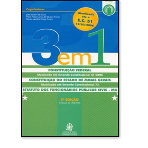 3 em 1 - Constituicao Federal do Estado de Minas Gerais