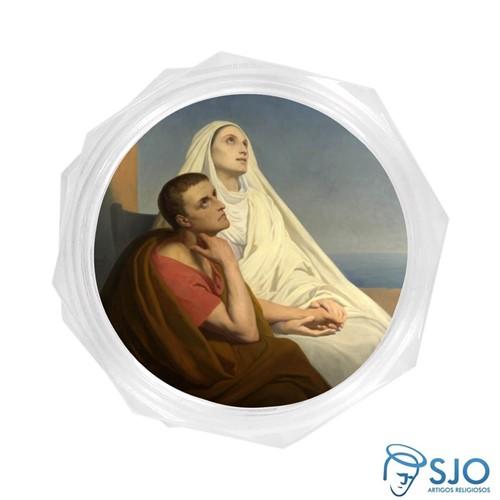 Embalagem Italiana Santa Mônica e Santo Agostinho | SJO Artigos Religosos