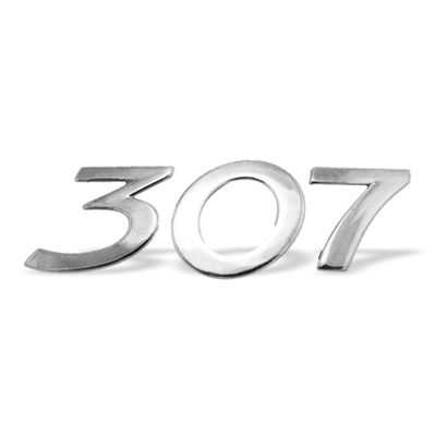 Emblema 307 para Peugeot 307 Todos - Cromado