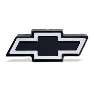 Emblema Chevrolet da Grade do Radiador S10 Blazer 1995 a 1998 Preto com Cromado