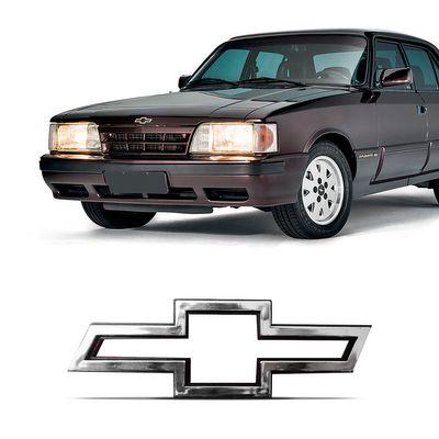 Emblema GM Chevrolet do Capô Opala Comodoro 1988 a 1992 Cromado Vazado