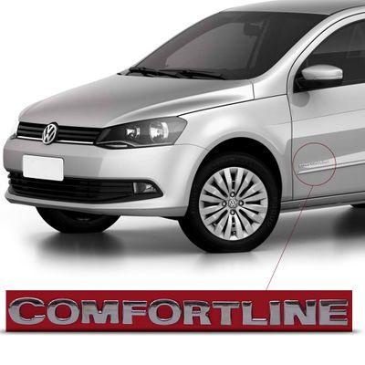 Emblema Letreiro Comfortline - Linha VW 2008 em Diante- Gol Voyage Polo Fox Spacefox Golf