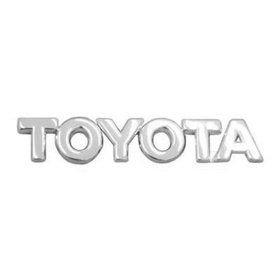 Emblema Letreiro TOYOTA Cromado - Corolla 2003 a 2008